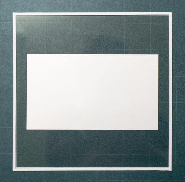 アクリル板とマスキングテープを用いた簡易フレームの額装手順5