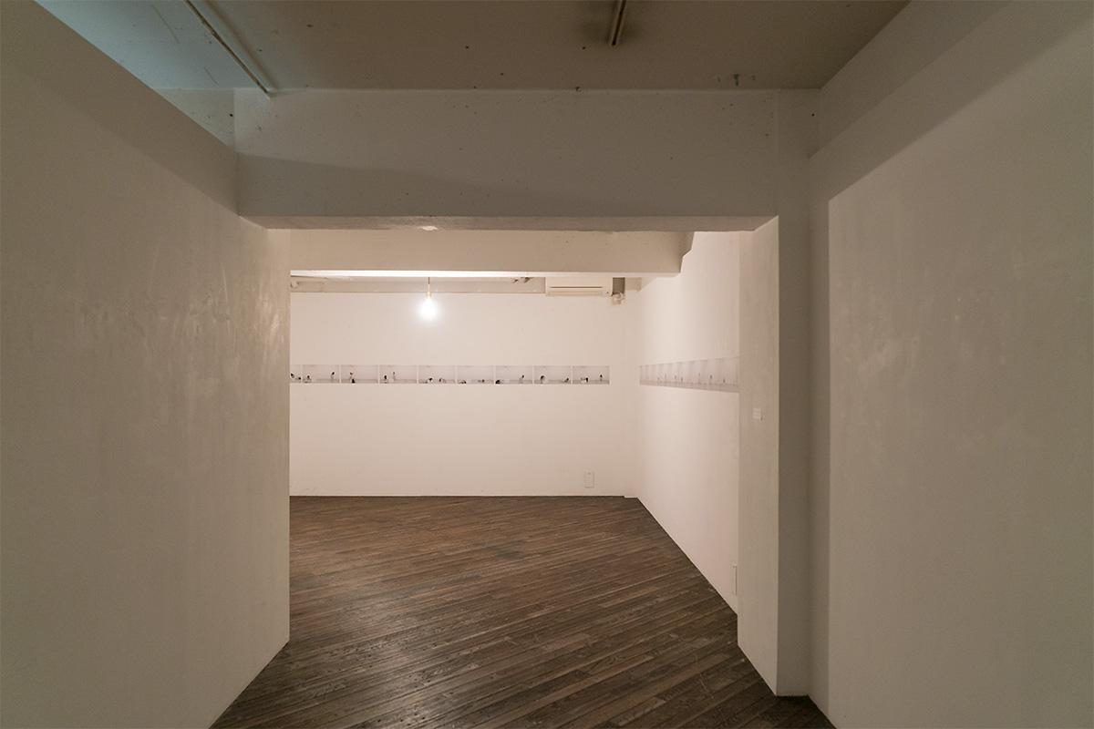 個展「症状の肖像」展示スペース、導入部
